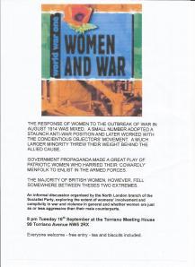 Women & War poster