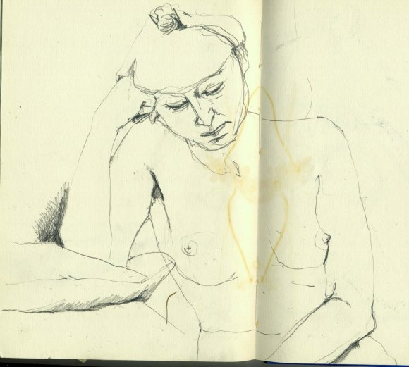 1990s weekly life drawing group.