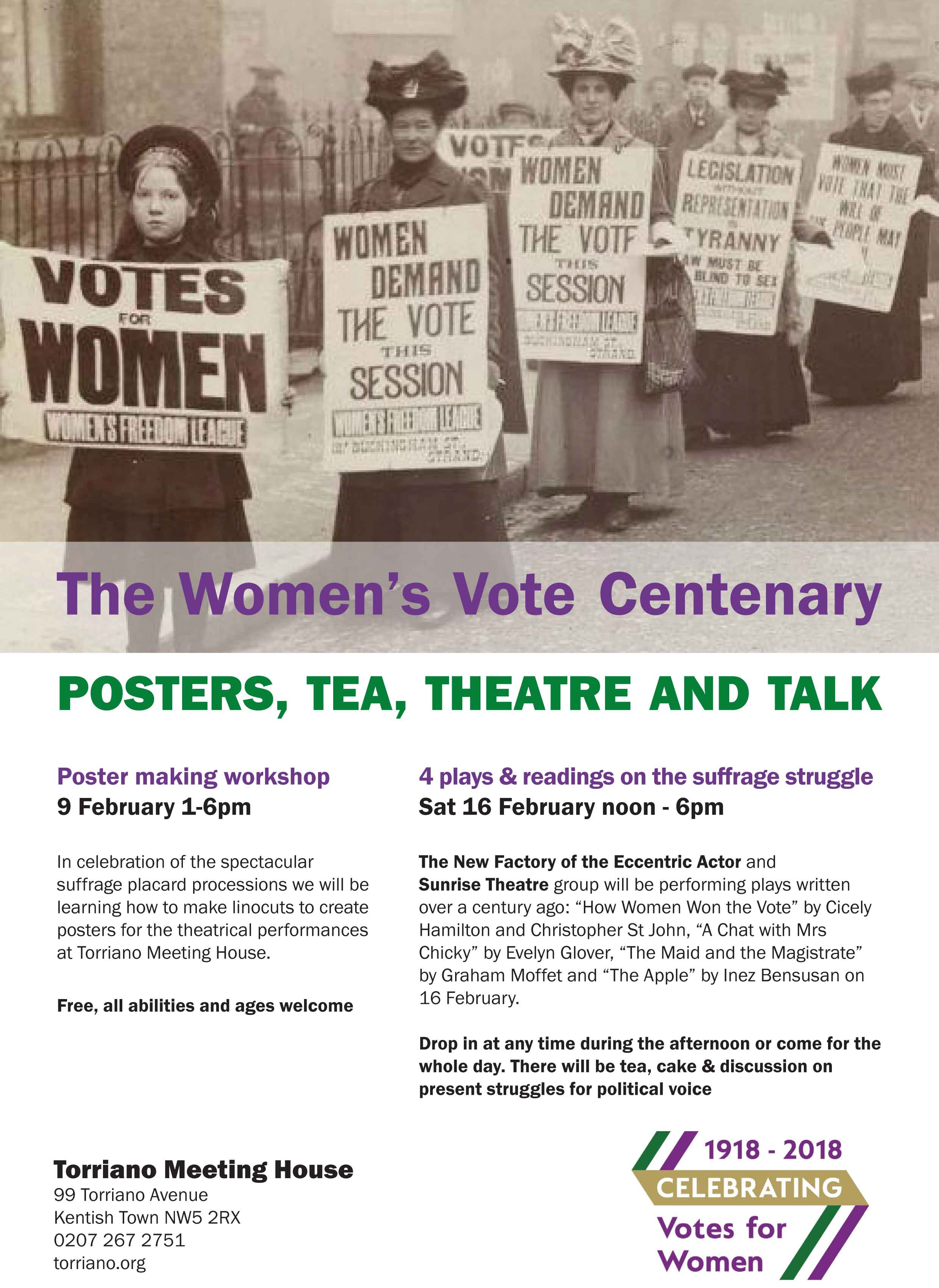 poster workshop and plays